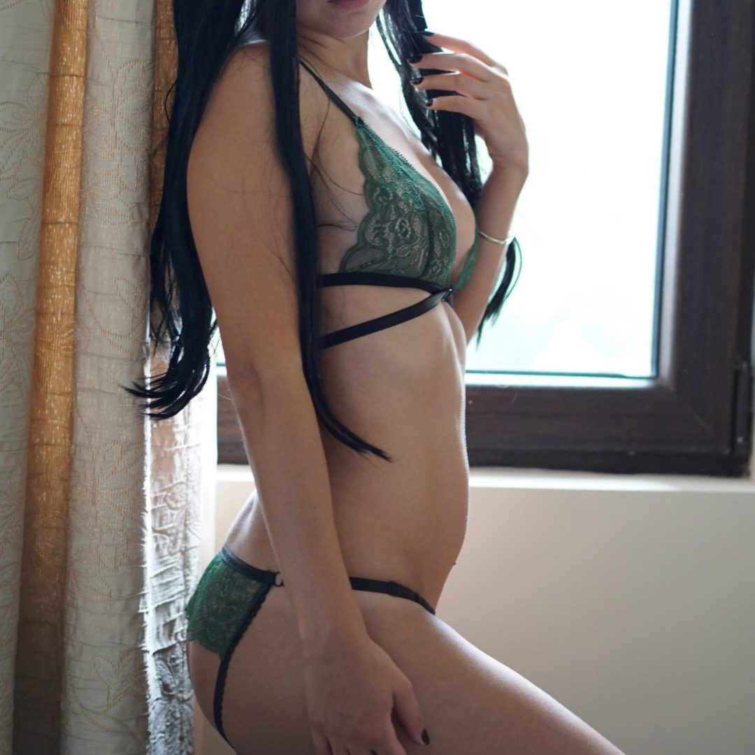BlackWings Lingerie-Amanda-Green-Ouvert-Panties