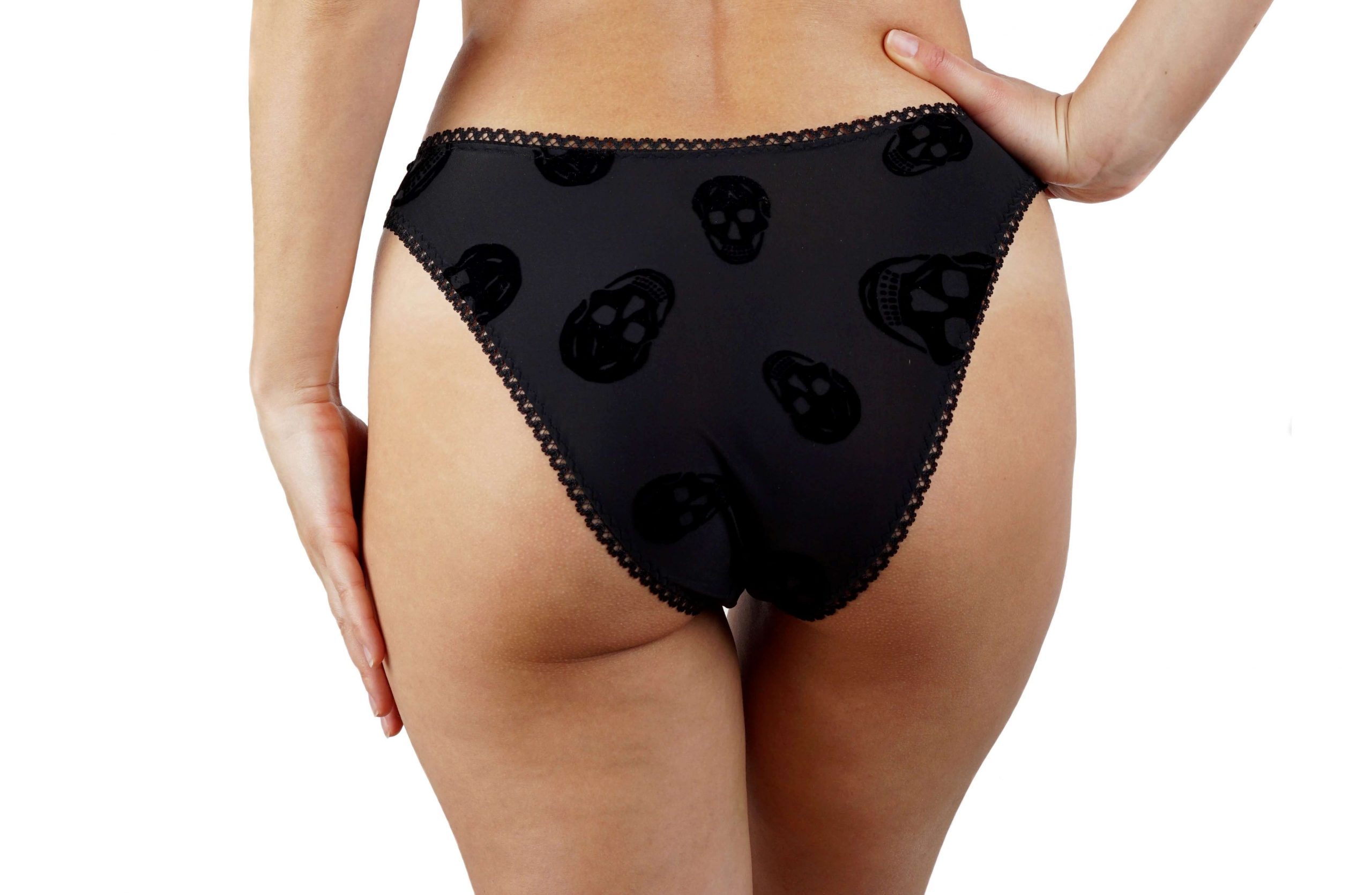 BlackWings Lingerie-Skulls High Cut Panties