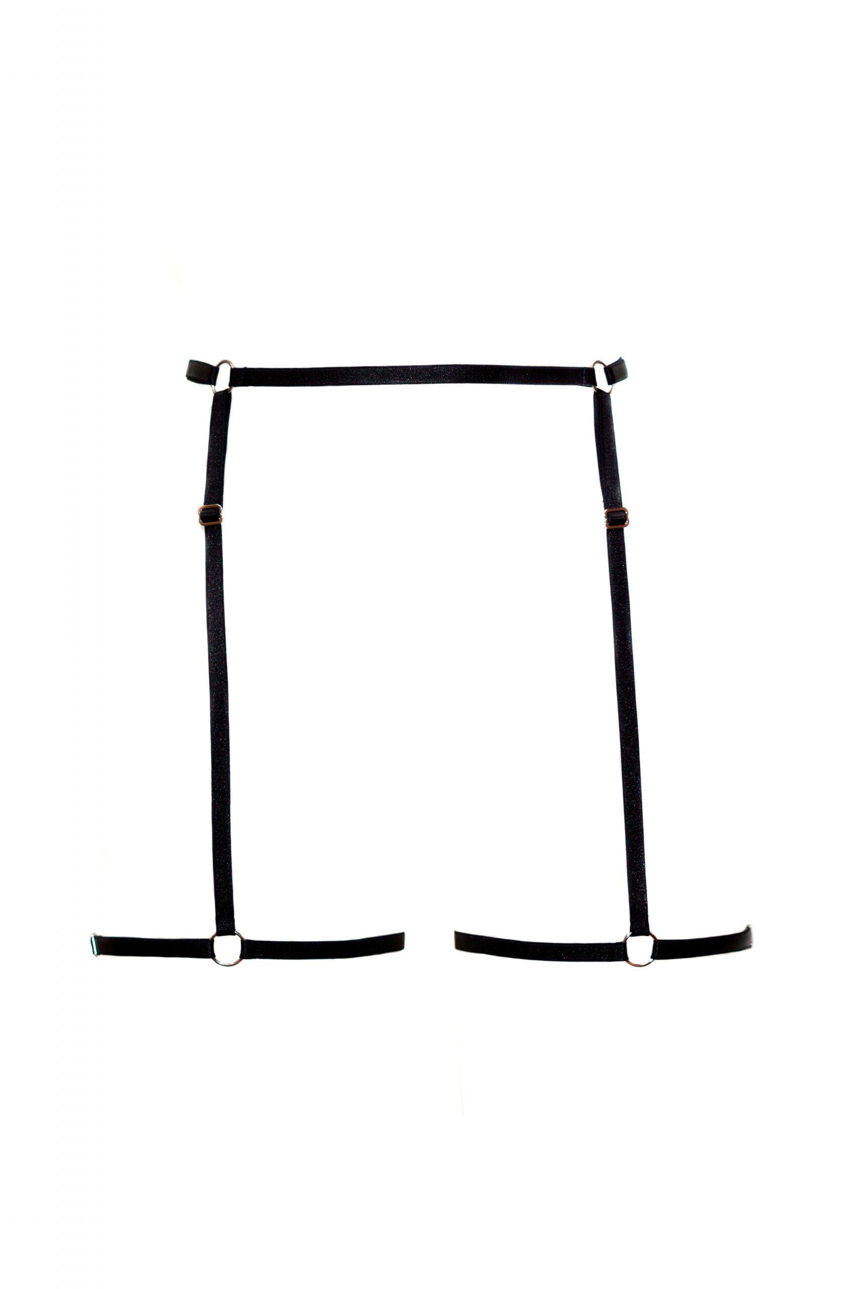 Black Harness Garter Belt_BlackWings Lingerie