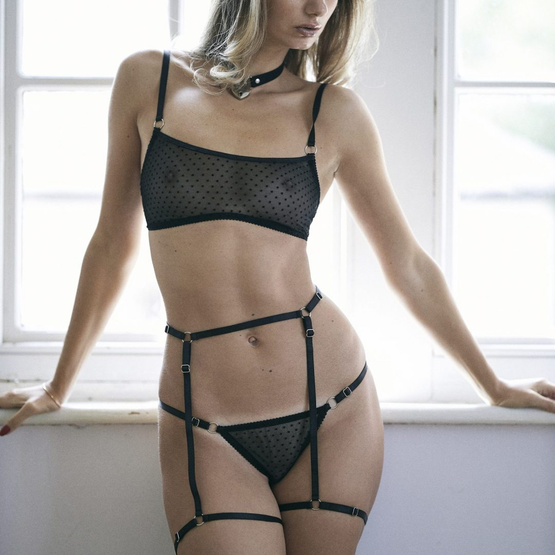 BlackWings Lingerie-Harness Garter Belt