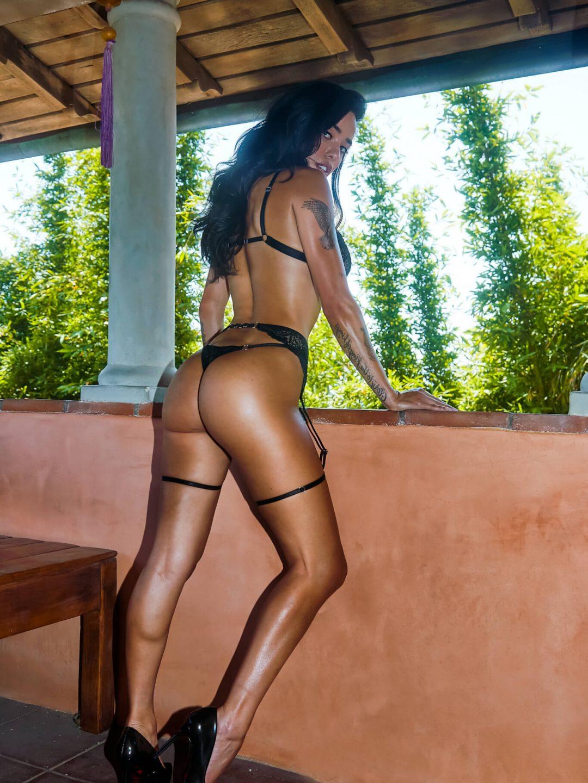Black Lace Bralette, thong and garter belt - BlackWingsLingerie